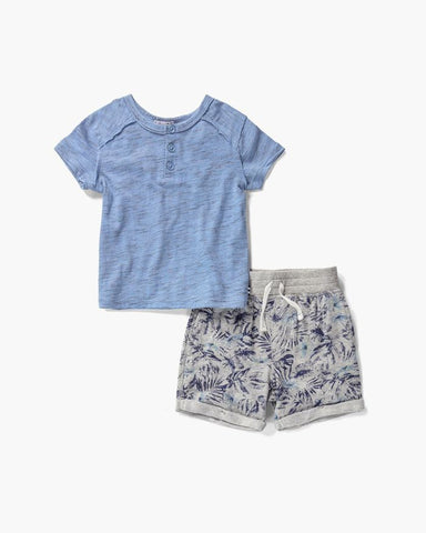 Baby Boy Henley Tee and Short Set