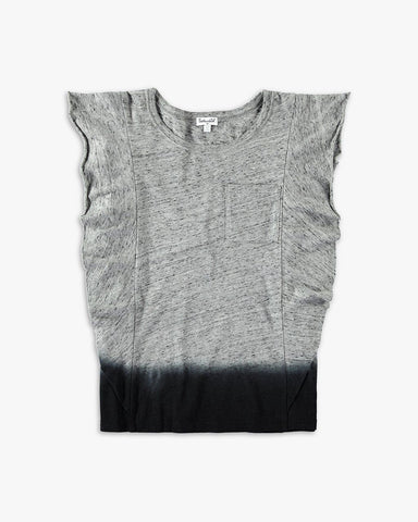 Girl Dip Dye Pocket Tee