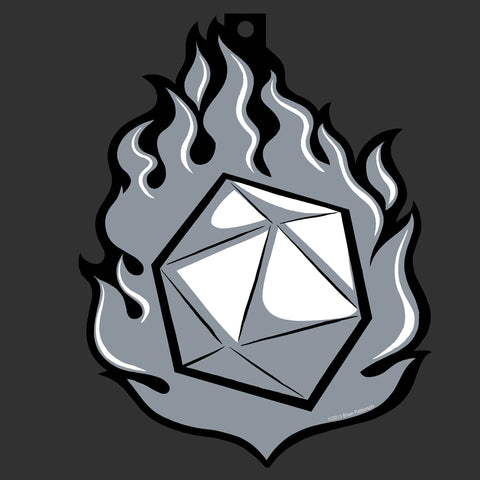 Flaming d20 Ornament