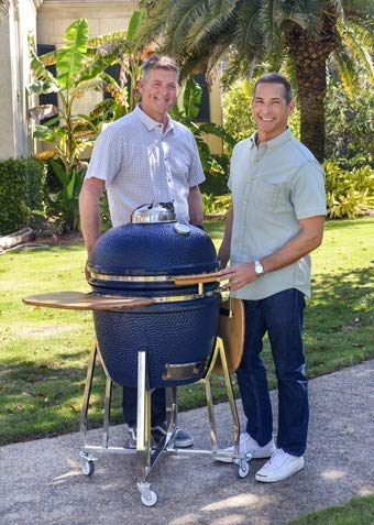Kamado Grill and Smoker in Blue