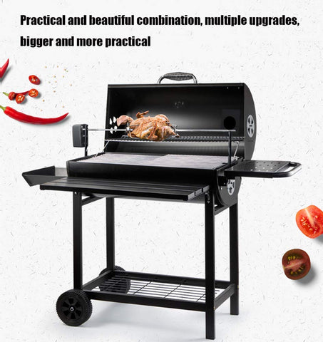 BBQ Grill Charcoal Barbecue Grill Outdoor Pit Patio Backyard Home Meat Cooker Smoker Outdoor for Camping