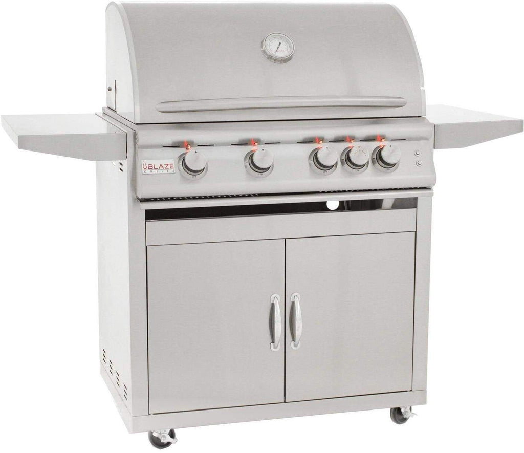 Freestanding Grill with Lights 32-inch, Natural Ga