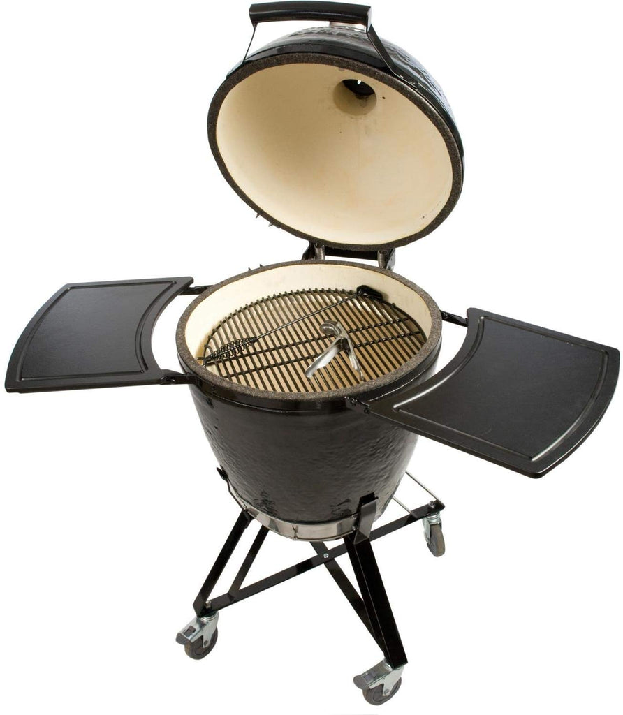Kamado Round Grill with Cradle Shelves, Ash Tool and Lift
