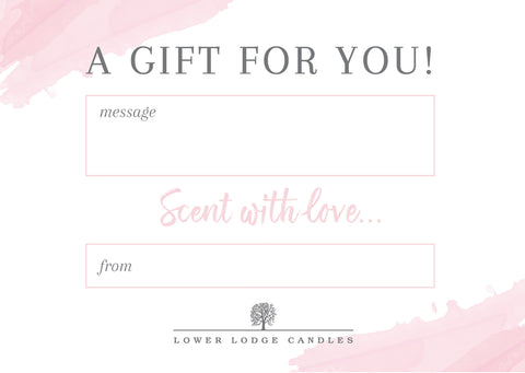 Lower Lodge Candles Free Gift Card