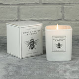 White Pepper & Peony Scented Candle