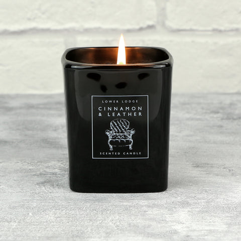 Cinnamon & Leather Scented Candle