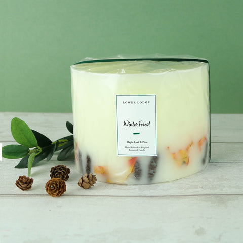 Winter Forest Large Botanical Candle