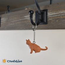 Load image into Gallery viewer, orange cat keychain