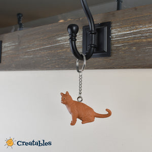 orange cat keychain