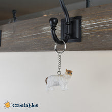 Load image into Gallery viewer, birman cat keychain hanging on a rack