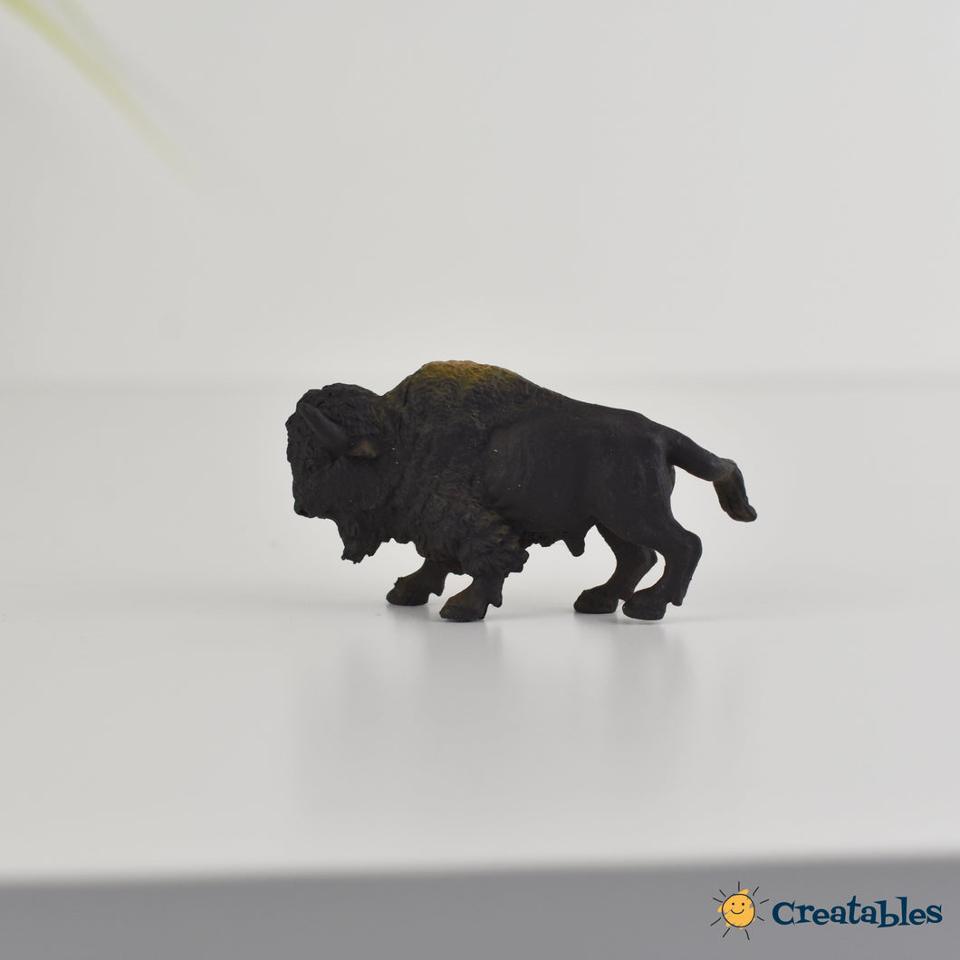 black bison drawer knob on a white background