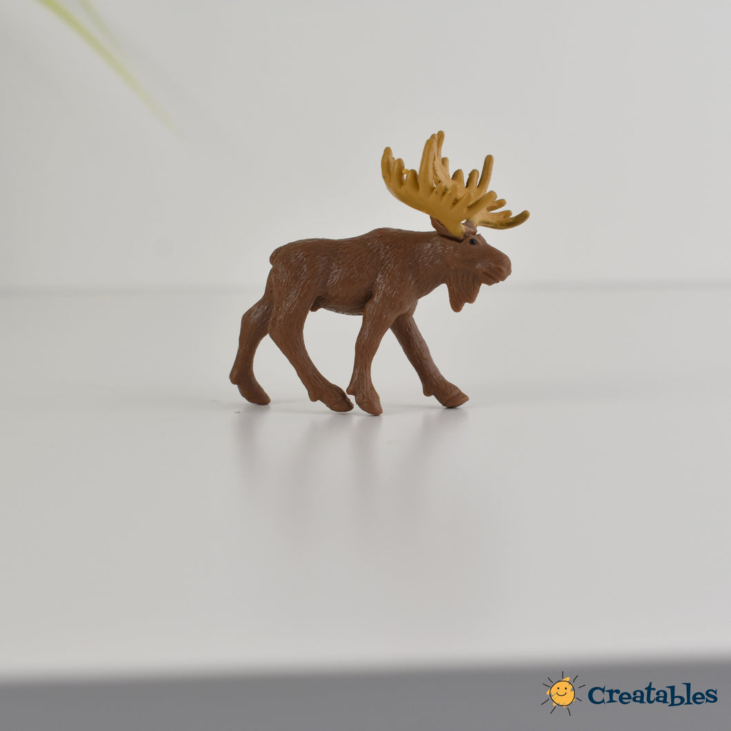brown elk with blonde horns on a white background