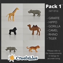Load image into Gallery viewer, gorilla, hippo, giraffe, camel, rhino and tiger drawer knobs pictured