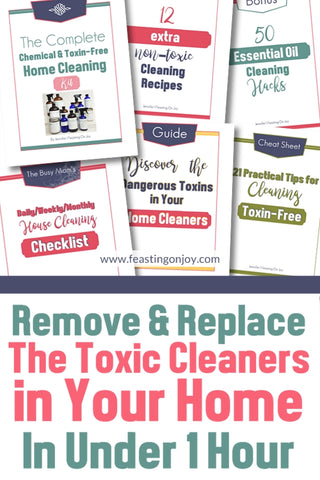 Remove and Replace the Toxic Cleaners in Your Home in Under 1 Hour {DIY} | Feasting On Joy
