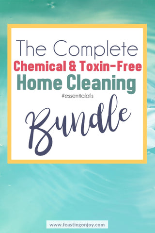 The Complete Chemical and Toxin Free Home Cleaning Bundle | Feasting On Joy