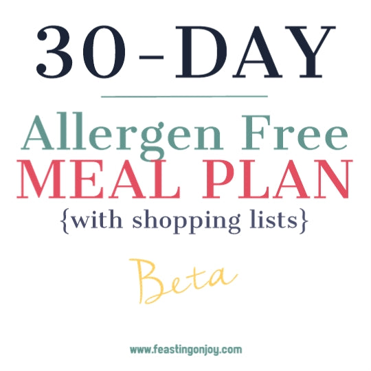 30 Day Allergen Free Meal Plans
