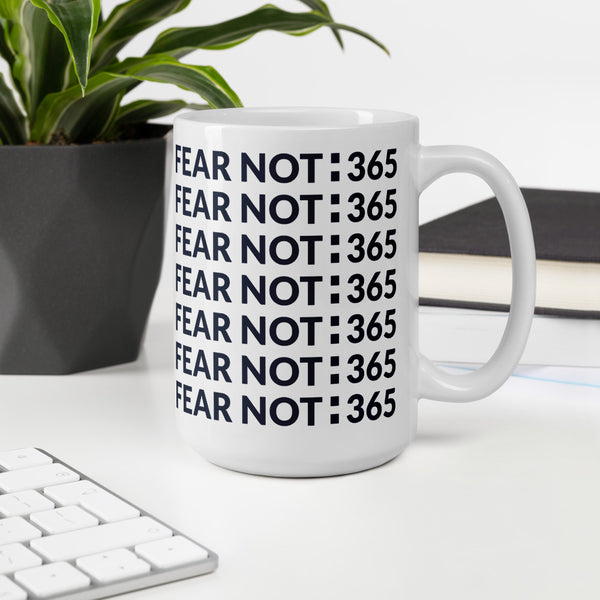 FEAR NOT:365 Mug {Deep Blue}