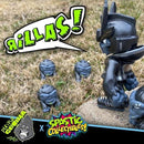 "Custom LE1 Teq63 ""The Marauder"" & LE5 Resin Silverback Edition ""Mini Rillas"" by Playful Gorilla x Spastic Collectibles FREE US SHIPPING Spastic Pops"