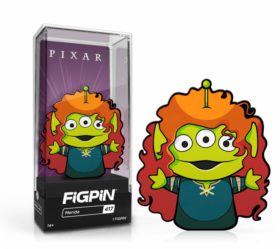 In Stock: FiGPiN Classic: Alien Remix - Alien Merida #417 FREE US SHIPPING Spastic Pops
