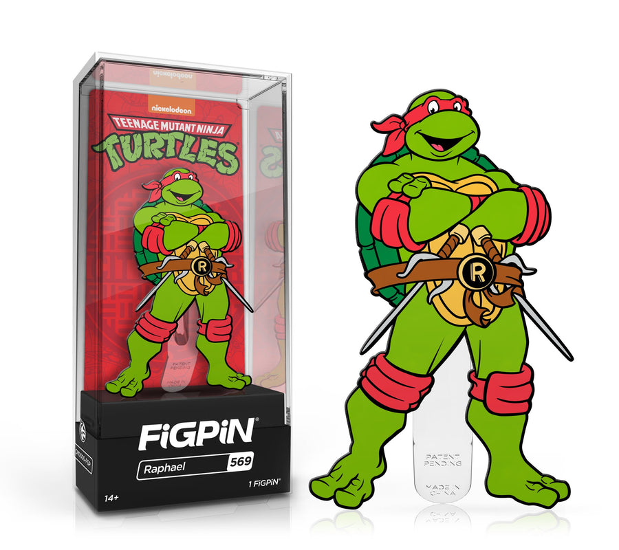 In Stock: FiGPiN Classic: TEENAGE MUTANT NINJA TURTLES TMNT - Raphael(#569) Spastic Pops