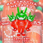 "IN STOCK LE399 MARTIAN TOYS MEGATEQ Sketracha 12"" Artist Series 2 By SketOne x Quiccs x Martian Toys (FREE US SHIPPING* or $20 OFF*) Spastic Pops"