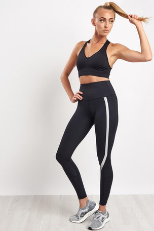 2XU High Waisted Compression Tights - Black/Silver image 4 - The Sports Edit