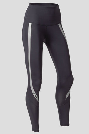 2XU High Waisted Compression Tights - Black/Silver image 5 - The Sports Edit