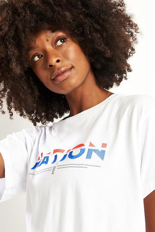 PE Nation Point Flag Tee - White image 3 - The Sports Edit