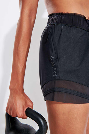 Adidas HEAT.RDY Training Shorts - Black image 4 - The Sports Edit