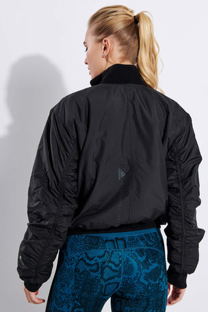adidas X Stella McCartney Athletics Light Padded Bomber Jacket - Black image 3 - The Sports Edit