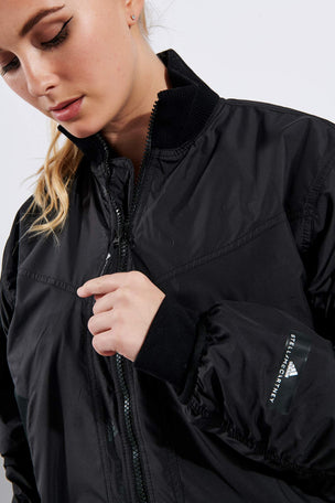 adidas X Stella McCartney Athletics Light Padded Bomber Jacket - Black image 4 - The Sports Edit