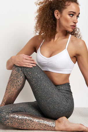 Beyond Yoga Alloy Ombre High Waisted Legging - White Rose Gold Speckle image 3 - The Sports Edit