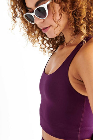 Girlfriend Collective Paloma Bra Classic - Plum image 4 - The Sports Edit
