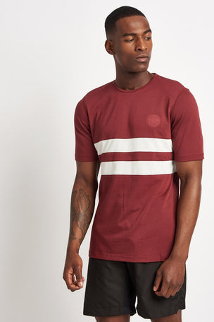 Iffley Road Cambrian Striped T-Shirt - Maple/ White image 1 - The Sports Edit