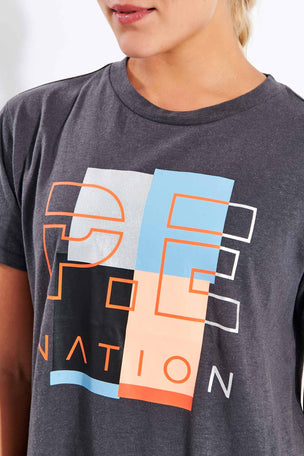 PE Nation Point Race Tee - Charcoal image 4 - The Sports Edit