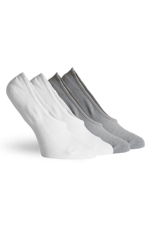 Pointe Studio Anna Sport No Show 2 Pack - White Charcoal image 1 - The Sports Edit