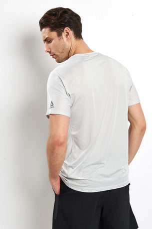 Reebok Activchill Jacquard Tee -  Skull Grey image 2 - The Sports Edit