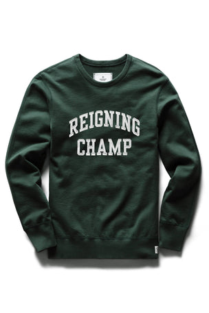 Reigning Champ Varsity Crewneck - Forest Green image 5 - The Sports Edit