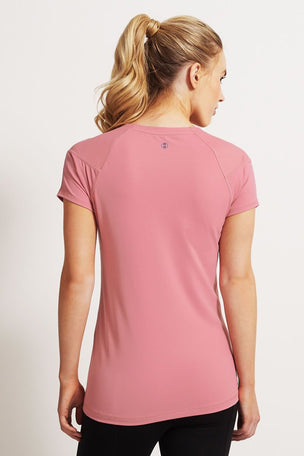 SALT Ultimate Workout Tee Pink Blush image 2 - The Sports Edit