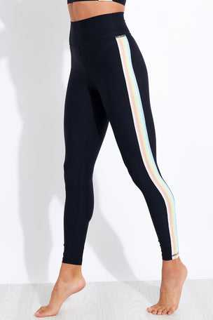 Spiritual Gangster High Waisted Sculpt 7/8 Legging - Black image 1 - The Sports Edit