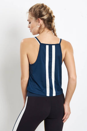 Splits59 Fly Crop Tank - Harbor/Off White image 2 - The Sports Edit