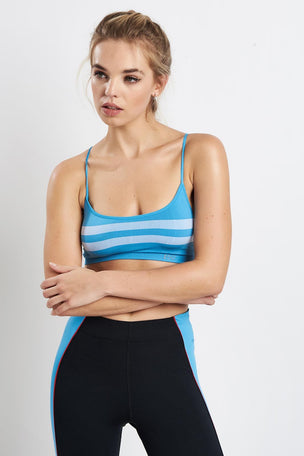 Splits59 Loren Seamless Bra - Vintage Blue image 1 - The Sports Edit
