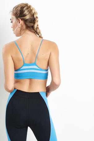 Splits59 Loren Seamless Bra - Vintage Blue image 2 - The Sports Edit