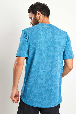Under Armour Threadborne Elite Fitted Tee - Bayou Blue image 2 - The Sports Edit