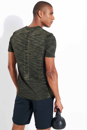Under Armour Vanish Seamless Short Sleeve - Baroque Green image 3 - The Sports Edit