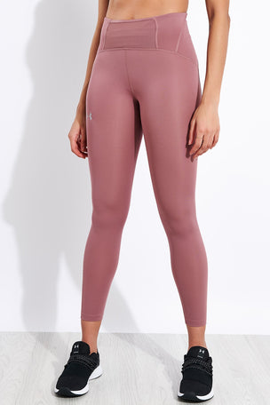 Under Armour Qualifier Speedpocket Perforated Crop - Pink image 1 - The Sports Edit