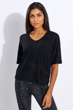 Varley Marr Tee - Black image 1 - The Sports Edit