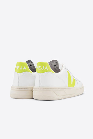 Veja V-10 Leather - White Jaune Fluo | Women's image 4 - The Sports Edit