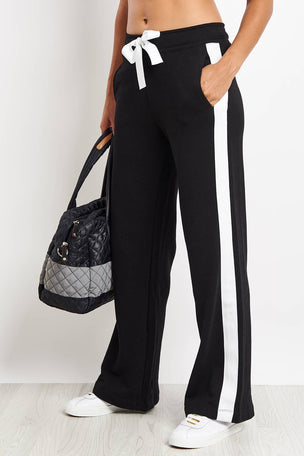 Alala Wide Leg Pant - Black/White image 1 - The Sports Edit