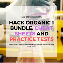 Load image into Gallery viewer, Hack Organic 1 Bundle: Cheat Sheets and Practice Tests